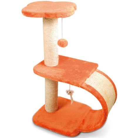Extractor de arañazos para gatos modelo GERANIO con colgantes