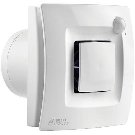 Extractor de baño silent dual 200 - Blanco
