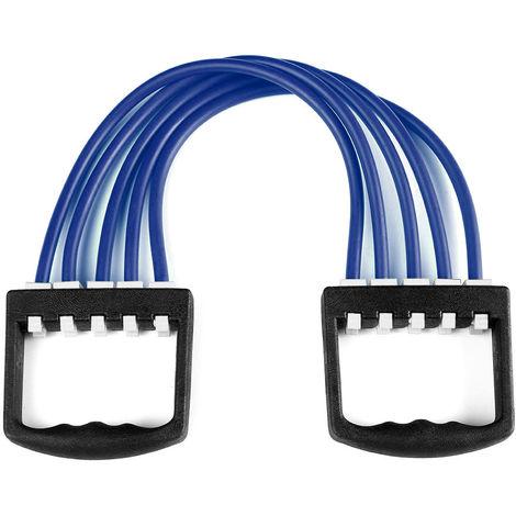 Extractor de expansor de pecho, Banda de resistencia ajustable de 5 tubos,Azul