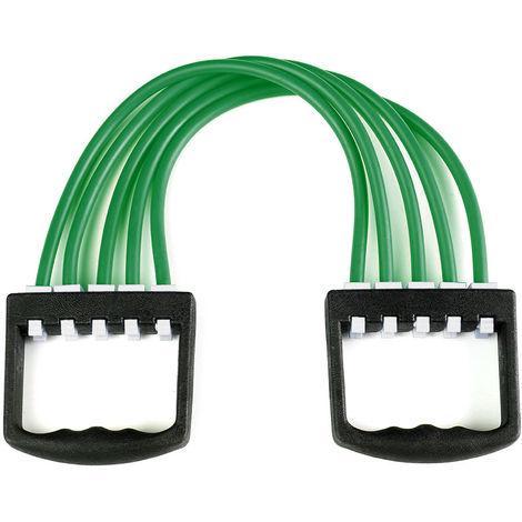Extractor de expansor de pecho, Banda de resistencia ajustable de 5 tubos,Verde