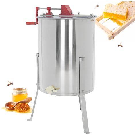 Extractor de miel manual acero inoxidable para 4 panales accionamiento manivela