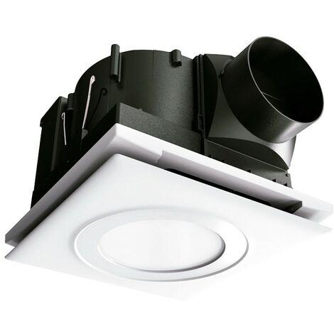Extractor de techo con filtro y luz Serie APF Ø100 - Blanco
