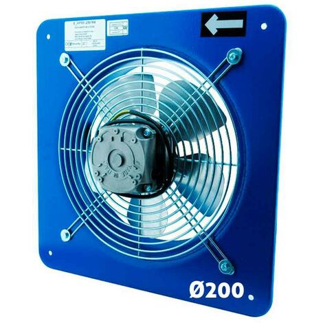 Extractor industrial mundofan helicoidal de pared 200 - Azul