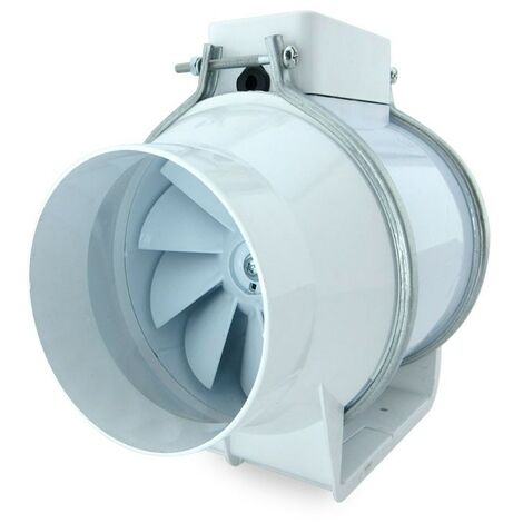 "main image of ""Extractor tubular intercalar en conducto TURBO 125 - Blanco"""