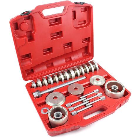 Extractores rodamientos rueda Juego 31 piezas Set herramientas cambio rodamientos bujes rueda Taller