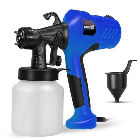 Extraible de alta presion electrica Maquina de pulverizacion pulverizador de pintura para la pintura del coche de muebles de madera, con rociador, Copa, Azul