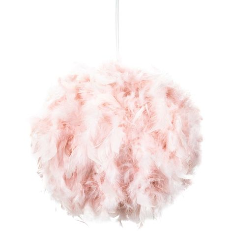 Eye-Catching and Designer Small Pink Feather Decorated Pendant Lighting Shade by Happy Homewares