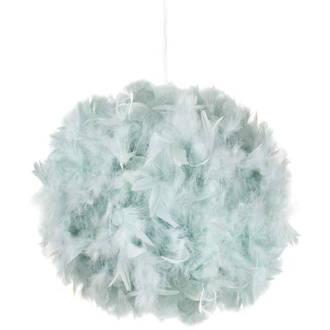 Eye-Catching and Modern Small Duck Egg Feather Decorated Pendant Lighting Shade by Happy Homewares