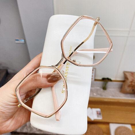 Eyeglass Frames Blue Light Blocking Glasses For Women Men Irregular Metal Glasses Block Blu-Ray Spectacle Frame