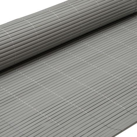 eyepower Canisse en PVC 90x300cm | rouleau en plastique brise vue pare soleil coupe vent clôture barrière déco ombrager jardin balcon terrasse | Gris