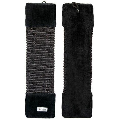 eyepower Rascador para Gatos altura aprox 55 cm para afilarse las garras jugar | tablón de sisal natural para arañar | parte posterior de peluche suave | Negro