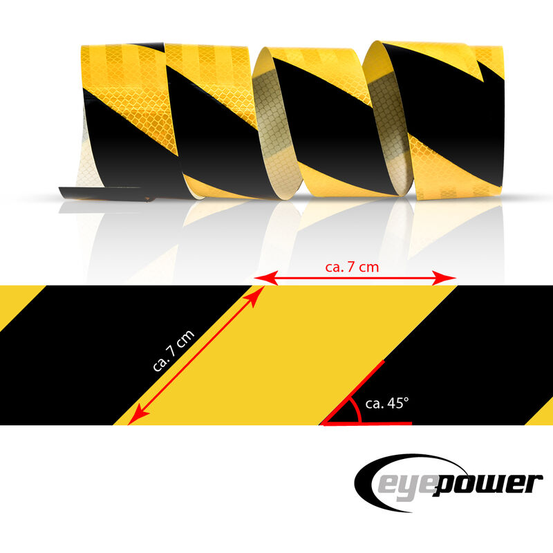 2 pezzi ad alta intensit/à nastro catarifrangente per pannelli di segnalazione Strisce di sicurezza biciclette cancelli caschi rivestimenti per porte 50 mm x 1 m autoadesive