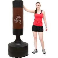 eyepower Sac de Frappe sur Pied autoportant | 170 cm de haut | sac lourd de boxe arts martiaux kick boxing combat entraînement pour adultes avec support de sol | noir