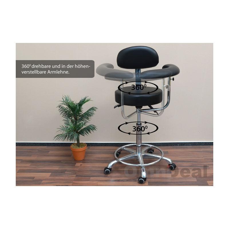 Eyepower sedile mst 415 girevole 360° con ruote schienale