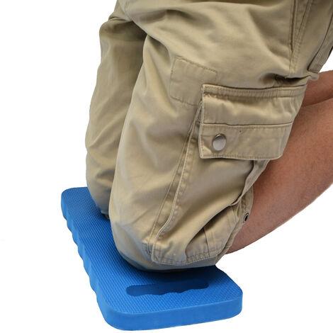 eyepower Tapis Protection Genoux 46x23cm pour s'agenouiller s'asseoir sur le sol extra-épais 2.5cm avec poignée de transport Bleu