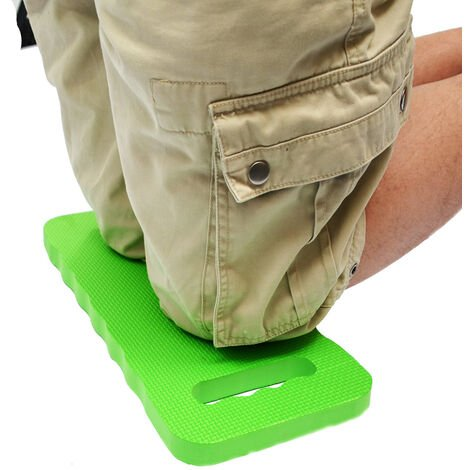 eyepower Tapis Protection Genoux 46x23cm pour s'agenouiller s'asseoir sur le sol extra-épais 2.5cm avec poignée de transport Vert
