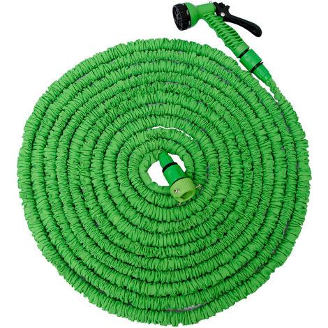 eyepower Tuyau d'Arrosage Élastique 10m-30m incl Pistolet d'arrosage 7 jets Tuyau d'Irrigation pour irriguer le jardin arroser les plantes