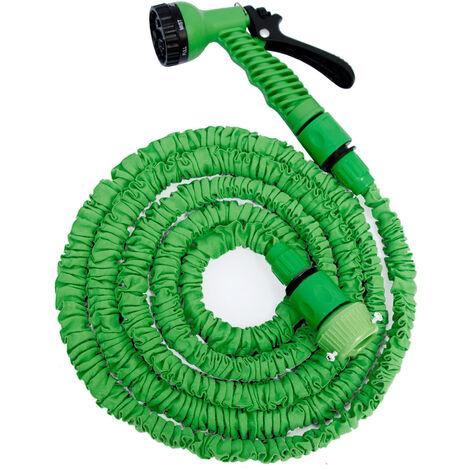 eyepower Tuyau d'Arrosage Élastique 2,5m-7m incl Pistolet d'arrosage 7 jets Tuyau d'Irrigation pour irriguer le jardin arroser les plantes
