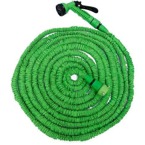 eyepower Tuyau d'Arrosage Élastique 7,5-22,5m incl Pistolet d'arrosage 7 jets Tuyau d'Irrigation pour irriguer le jardin arroser les plantes