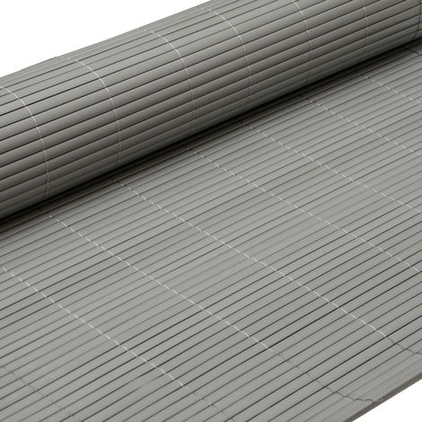 eyepower Valla de PVC 90x300cm   Pantalla de partición protectora privacidad viento sol decoración jardín balcón terraza   Estera de plástico semejante bambú   Gris