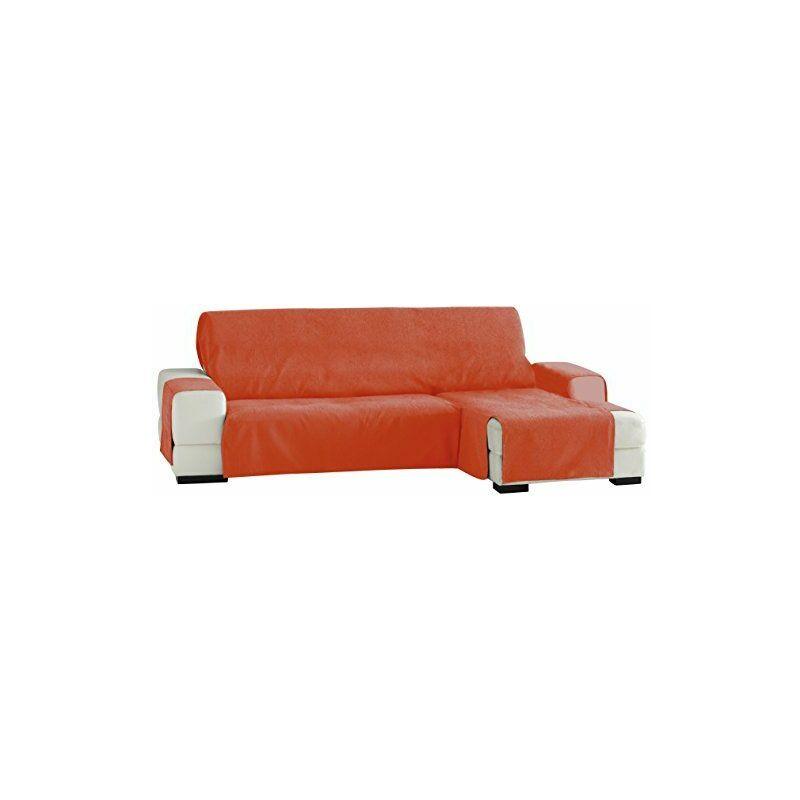 F3331919D Zoco Chaise Longue Droite Vue Frontale Orange 240 cm - Eysa