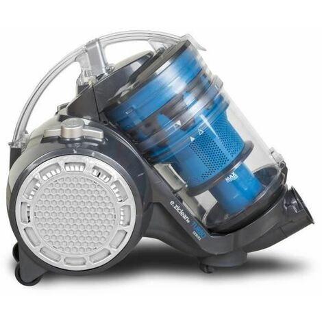 E.Zicom e.ziclean Turbo Multi-Floors Aspirateur sans Sac Gris/Bleu 40 x 20 x 32 cm