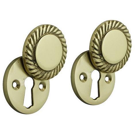 ezlok Mortice Keyhole Georgian Escutcheon Brass
