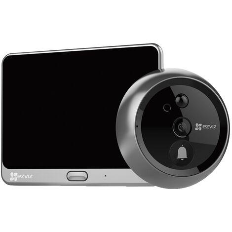 Ezviz - DP1C - Sonnette connectée et judas vidéo - Noir