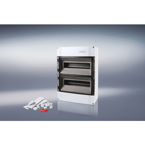 F-Tronic 7240024 AP Kleinverteiler IP65, 2-reihig 2x12+2 Module