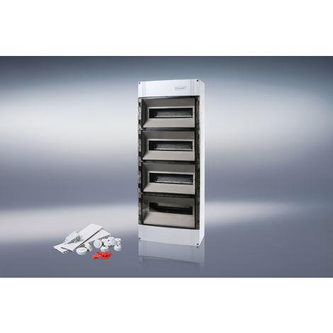 F-Tronic 7240029 AP Kleinverteiler IP65, 4-reihig 4x12+2 Module