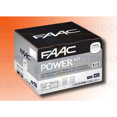 faac automation kit power 24v dc power kit safe 106747445