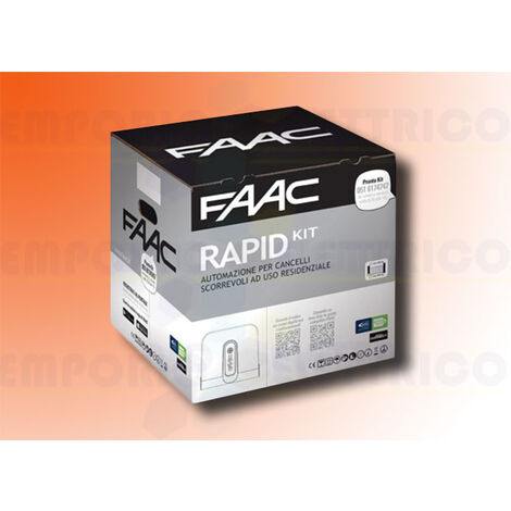 faac automation kit rapid (ex cyclo) 24v dc safe&green 1059995