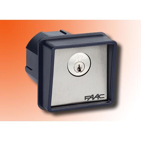 faac bouton à clé à encastrement 1 contact t10 4010101