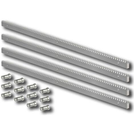 faac crémaillère galvanisée 30x12 m4 -fixations - 4 mt - 490124