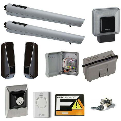 Faac Handy Kit d' automatisation electromécanique pour portails battants 24V 105998
