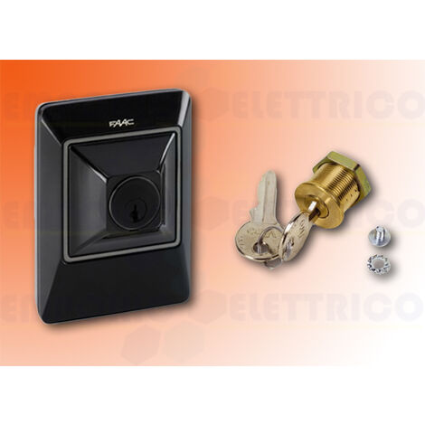 faac key and control button + door lock green tech 2easy xk10 b 401304 bundle
