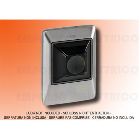 faac key and control button xk11 inox 401045