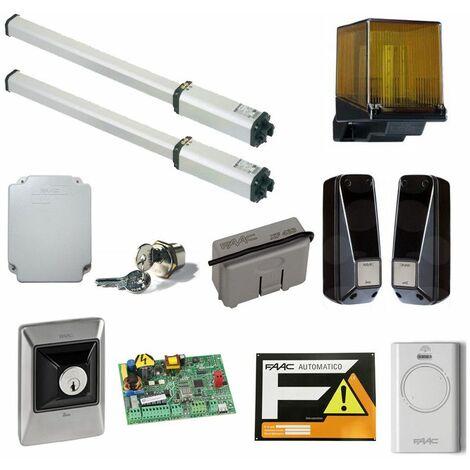 Faac Kit de puerta de doble hoja 230V 412 LeaderKit 105633445