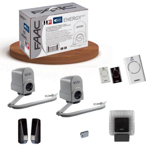 faac kit motorisation 24v dc energy kit safe 104575144
