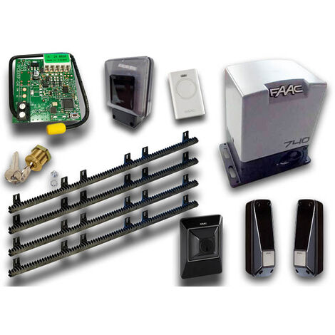 faac kit motorisation delta2 kit safe + 4 mt crémaillère nyl emp1056303445crem