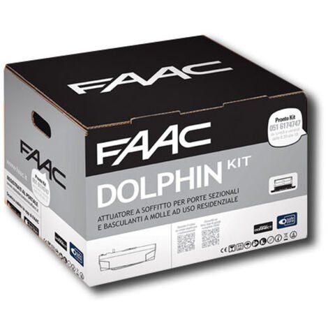 faac kit motorisation dolphin 24v dc dolphin kit safe 10566544fr
