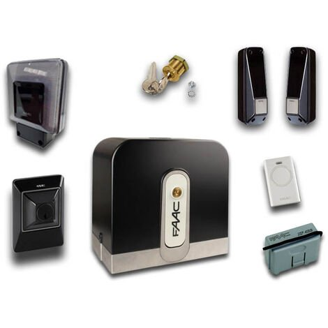 faac kit motorisation rapid (ex cyclo) 24v dc 800 kg safe&green 105083