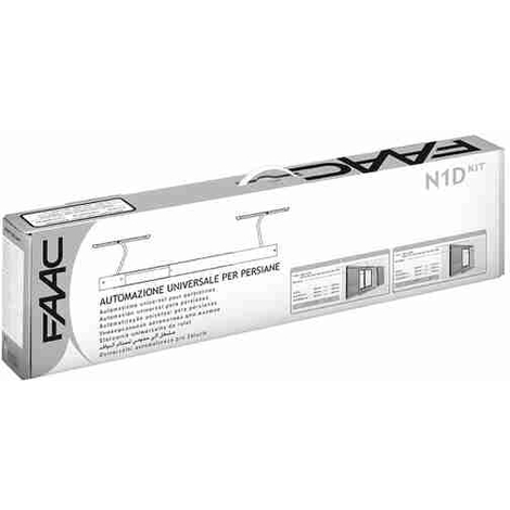 FAAC N1D kit automatisation universel pour volets, 1 ou 2 portes, blanc (9010)