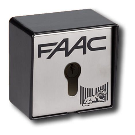 faac pulsador de llave para exterior 2 contactos t21 e 401013