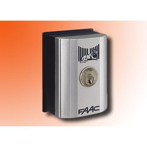 faac pulsador de llave para exterior o columna 1 cont t10 e 4010191