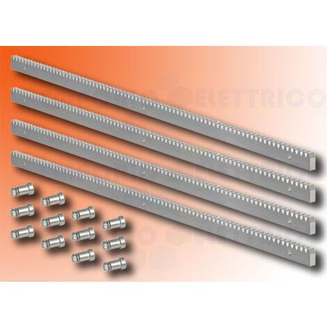 faac zinc gear rack 30x12 m4 - fittings - 4 mt - 490124