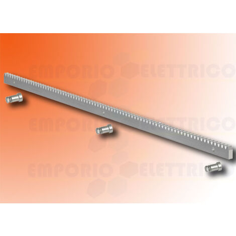 faac zinc rack 30x12 m4 weld-on fittings - 1 mt - 490122