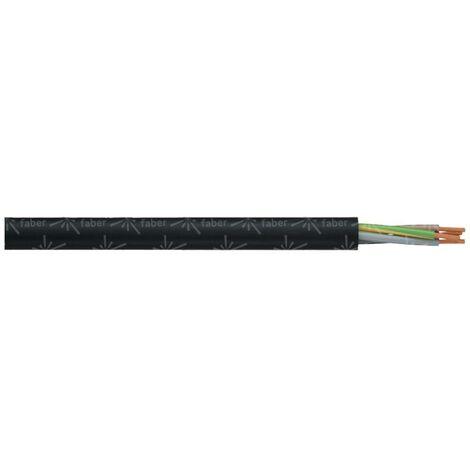 Faber Kabel 030004 Schlauchleitung H03VV-F 2 x 0.75mm² Schwarz 100m Y799591