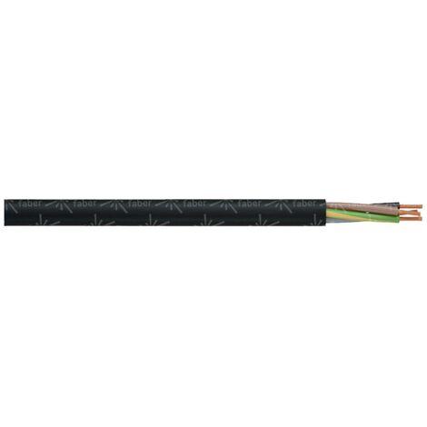 Faber Kabel 030020 Schlauchleitung H05VV-F 3G 1.50mm² Schwarz 50m Y799221