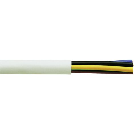 Faber Kabel 030031 Schlauchleitung H05VV-F 5G 2.50mm² Weiß 50m Y799191